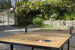 Mesa de ping pong y entrada